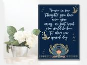 Wedding Forever In Our Thoughts, Lost Ones Art Deco  -  Metal Wall Sign